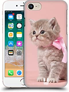 Case+TemperedGlass, Ultra-Thin Polycarbonate Protector Fits Apple iPhone 6 Plus/6S Plus/7 Plus/8 Plus Hard Snap on Back Cover Pink Cute Cat/Kitty/Kitten with Bow