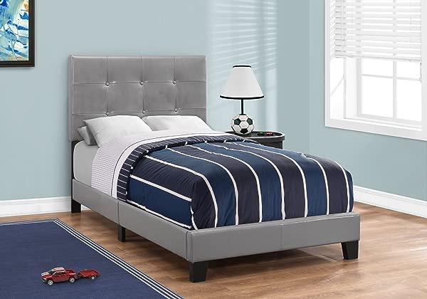 Monarch Specialties I 5923T Bed Frames Twin Grey