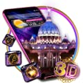3D Vatican Night Glass Tech Theme