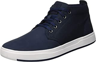 Men's Davis Square Leather and Fabric Chukka