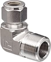 Parker A-Lok 16MSEL16N-316 316 Stainless Steel Compression Tube Fitting, 90 Degree Elbow, 1