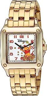 Disney Women's Winnie The Pooh Analog-Quartz Watch with Stainless-Steel Strap, Gold, 18 (Model: 51107-3-B-7)