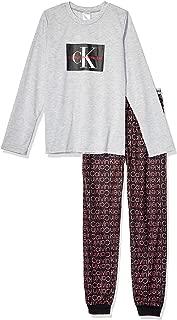 Calvin Klein Boys' Little Kids 2 Piece Sleepwear Top and Bottom Pajama Set