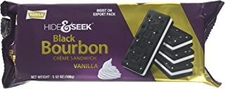 Parle Hide & Seek Black Bourbon Creme Sandwich with Vanilla Cream Filling (100 grams / 3.5 oz)