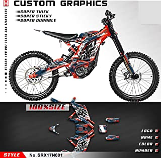 Kungfu Graphics Custom Decal Kit for Sur-Ron Light Bee X Electric Off-road Motorcycle Dirt Bike, Red Blue, SRX17N001