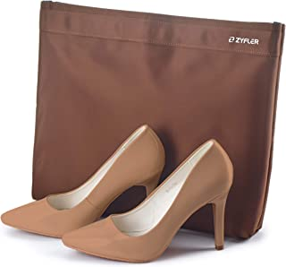 Stylish Travel Shoe Storage Bag For Women, Waterproof, Brown - Bags with Attachable Handle for Womens Shoes, Boots, Heels- Protective, Durable Luggage Accessories for Traveling and Trips