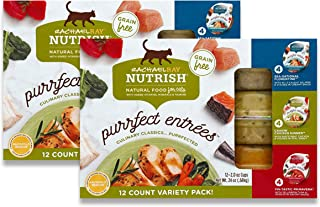Best Rachael Ray Nutrish Purrfect Entrees Wet Cat Food, 2 Ounce Cups (Pack of 24), Grain Free Reviews