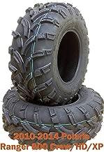 Set 2 front ATV Tires 26x9-12 for 10-14 Polaris Ranger 800 Crew/HD/XP