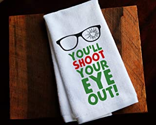 Funny Kitchen Towel Christmas Story Ralphie Shoot Your Eye Out