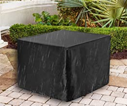 """WOMACO Heavy Duty Square Patio Fire Pit/Table Cover, Waterproof Outdoor Furniture Cover (48"""" x 48"""" x 29"""", Black)"""