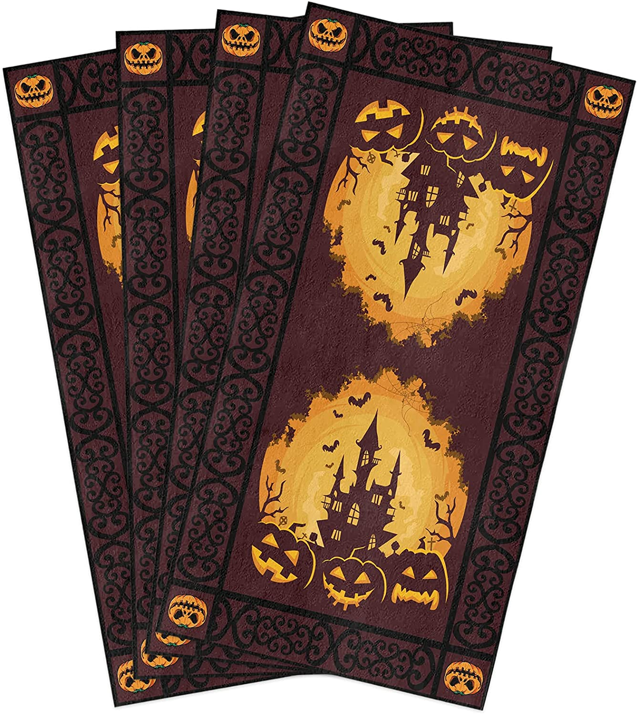 Halloween Kitchen Towels Max 51% OFF Set Dish Pumpkin Orange Jack-O-Lantern Max 58% OFF