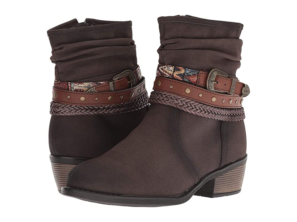 Roper Libbie (Burnished Brown Faux Leather) Cowboy Boots