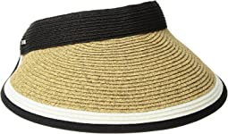 UBV047 Visor with Contrast Color Stripe and Adjustable Back