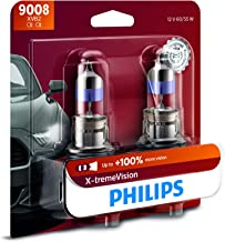 Philips 9008 X-tremeVision Upgrade Headlight Bulb with up to 100% More Vision, 2 Pack