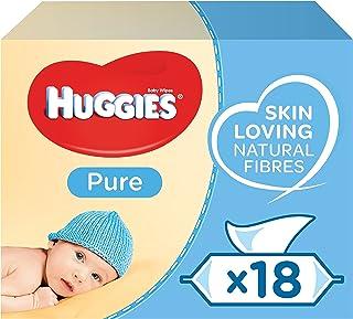 Huggies Pure Toallitas para Bebé - 18 paquetes de 56