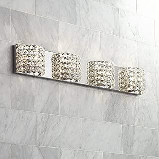 Cesenna Modern Wall Light Chrome Hardwired 35 1/2