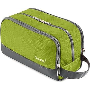 Gonex Travel Toiletry Bag Nylon, Dopp Kit Shaving Bag Toiletry Organizer Green
