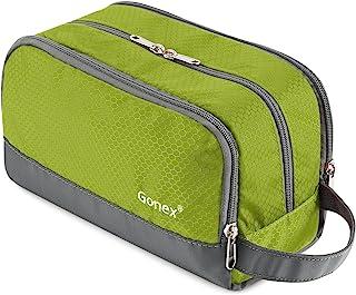 Travel Toiletry Bag Nylon, Gonex Dopp Kit Shaving Bag Toiletry Organizer Green