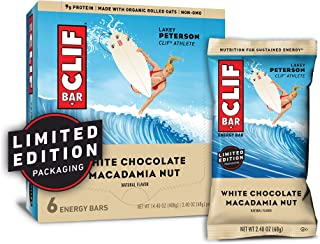CLIF BAR - Energy Bars - White Chocolate Macadamia Nut Flavor - (2.4 Ounce Protein Bars, 6 Count) (Packaging May Vary)