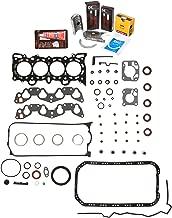 Evergreen Engine Rering Kit FSBRR4028000 Fits 92-95 Honda Civic Del Sol D16Z6 Full Gasket Set, Standard Size Main Rod Bearings, Standard Size Piston Rings