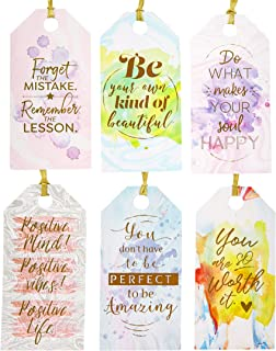 Best Paper Greetings 72-Pack All Occasion Inspirational Quote Gift Tags - 6 Colorful Watercolor Designs