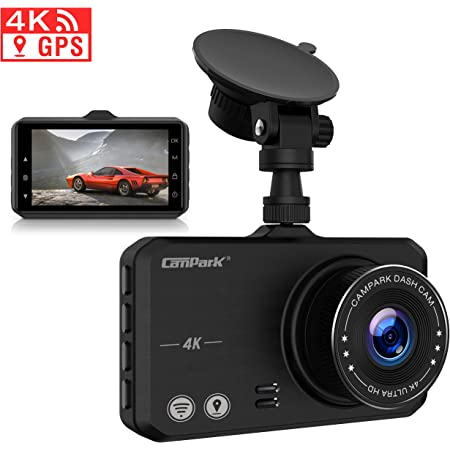 Campark 4k Dashcam With Wifi Gps Dashboard Camera Elektronik