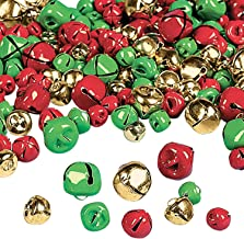 AUEAR 72 Pack Mini Gold Liberty Bells 5//8 inch Jingle Bells for Craft and Favor Decorating