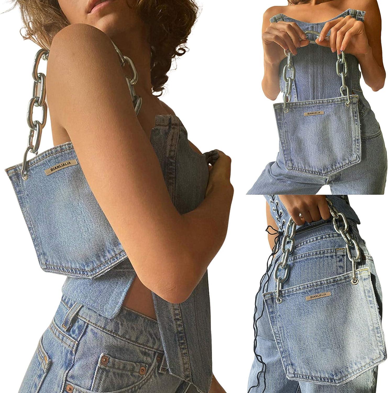 Women Push Up Bustiers Denim Corset Top Sale special price Limited price sale Crop Slim Off Shoulder T