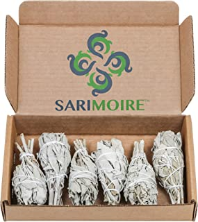 Sage Smudge Stick - 6 California White Sage Bundles Smudging Wands (Salvia Apiana) Perfect for Smudge Kit Replenishment
