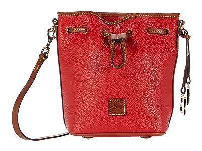 Dooney & Bourke Pebble Small Drawstring (Red) Handbags
