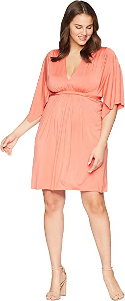 Plus Size Mini Caftan Dress