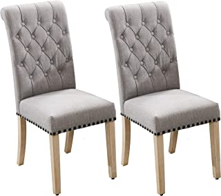 Luxuriour Fabric Dining Chairs,Pekko Kitchen Room with...