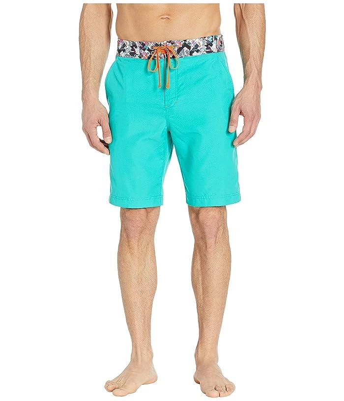 Robert Graham Suliman Woven Swim Shorts (Teal) Men