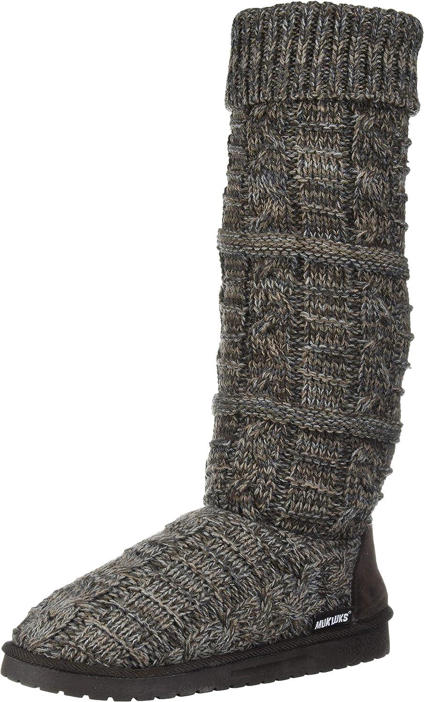 Muk Luks Women's Shelly Boots-Grey Fashion