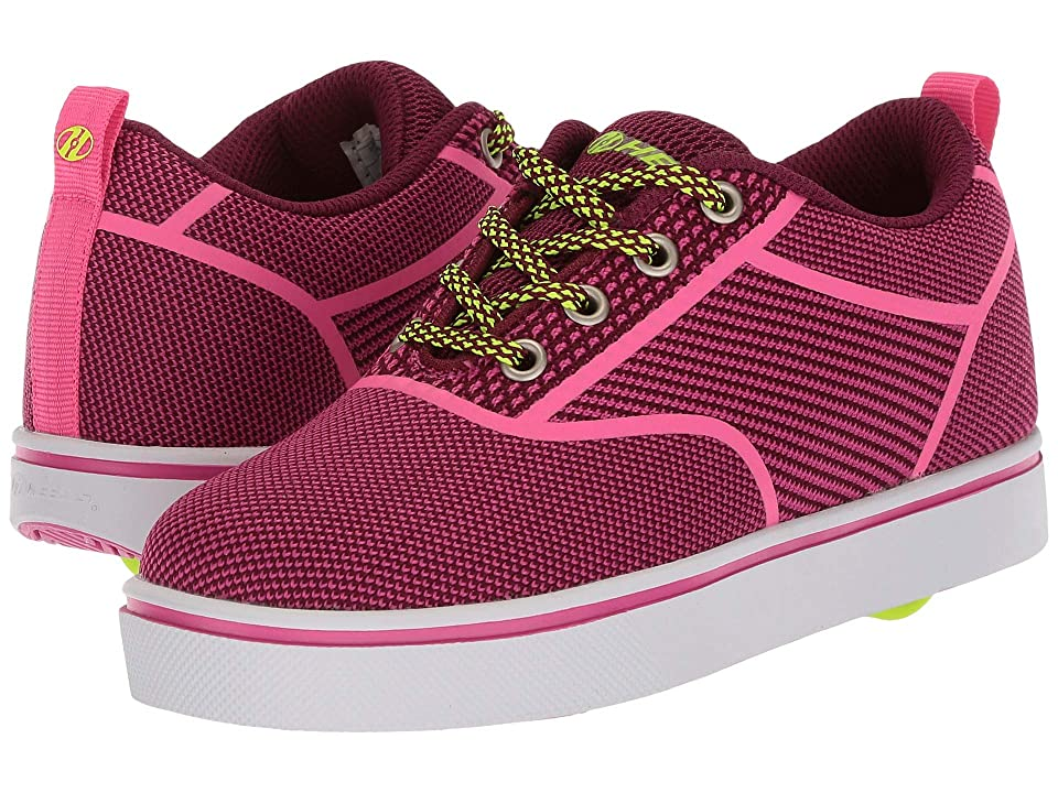 Heelys Launch Knit (Little Kid/Big Kid/Adult) (Berry/Pink Knit) Girls Shoes