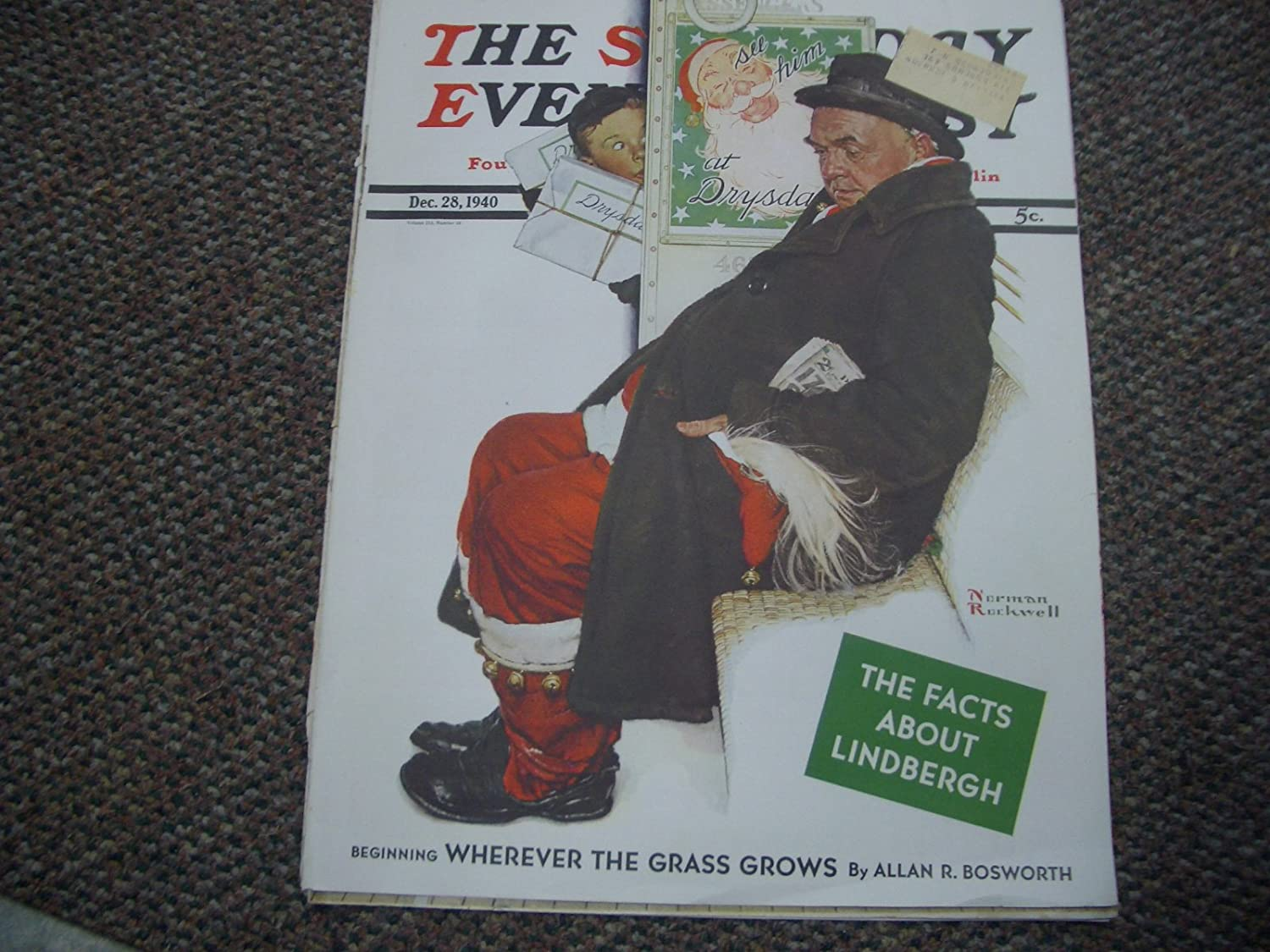 SAT EVENING POST NORMAN ROCKWELL COVER DEC 1940 28 ONLY Cheap SALE Start Popular brand G