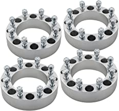 DCVAMOUS 4pc 8 Lug 8x6.5 Wheel Spacers 2 Inch 14x1.5 Studs for Chevy Express Silverado 2500 3500 Suburban Avalanche 2500