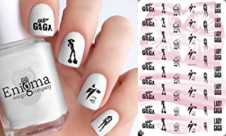 Lady Gaga (Clear Water-Slide Nail Decals)