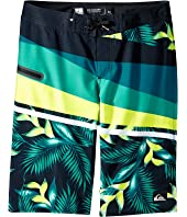 Quiksilver Kids - Slash Prints Vee Youth 19 (Big Kids)