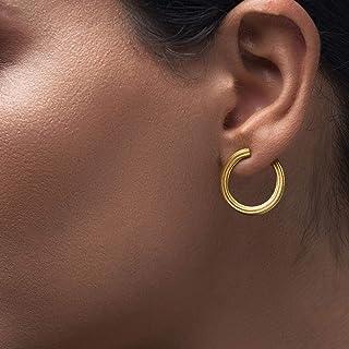 Pendientes de aro minimalistas, pendientes de oro, pendientes de aro pequeños, pendientes de aro, pendientes de orejeras, detrás de la oreja