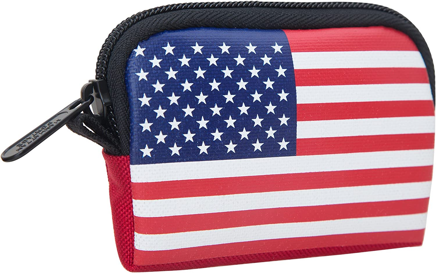 Manhattan Portage Stars and Stripes Coin Purse, Red, One Size