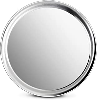 New Star Foodservice 50899 Pizza Pan/Tray, Wide Rim, Aluminum, 14 Inch, Pack of 6