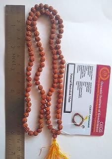 Apnisanskriti Laboratory Certified Wooden 5 mm 108 +1 Beads 5 Mukhi Rudraksh Mala (Brown Color)
