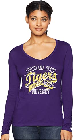 LSU Tigers Long Sleeve V-Neck Tee