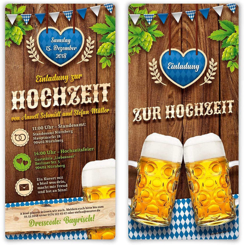 40 40 40 x Hochzeitseinladungen Einladungskarten individuell mit echtem Abriss - O'zapft is  in Blau B07KYPNQNK | Feinen Qualität  dc01d6