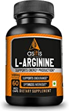 Asitis Nutrition L-Arginine 1000mg per serving, 30 servings   60 Capsules  Supports Endurance & Optimizes Workouts   Zero Fillers   Lab-Tested