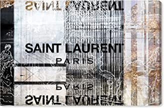 The Oliver Gal Artist Co. Fashion and Glam Wall Art Canvas Prints 'Laurent Empire' Home Décor, 36