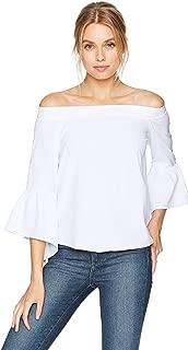 قميص نسائي Lucca Couture بأكمام قصيرة بدون أكتاف