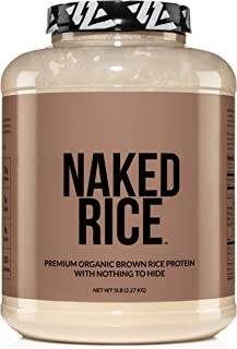 Naked Rice - Organic Brown Rice Protein Powder – Vegan Protein Powder - 5lb Bulk, GMO Free, Gluten Free & Soy Free. Plant-...