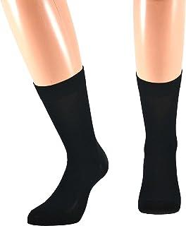 Fontana Calze, 8 paia di calze CORTE in puro cotone Filo di Scozia elasticizzate, confortevoli e rinforzate su punta e tal...
